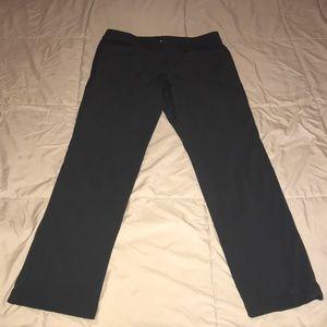 Lululemon ABC pants. Charcoal grey